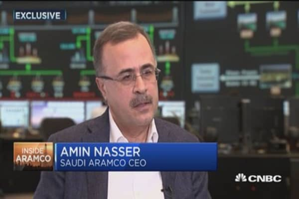 CEO of world's biggest oil firm is not too worried about electric cars