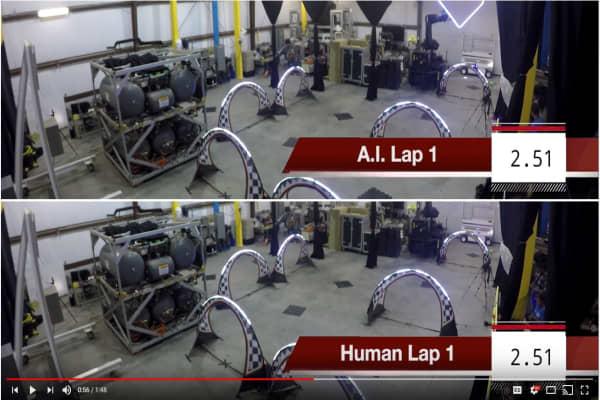 NASA built autonomous drones to race a world-class human drone racer.