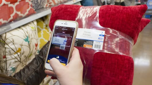 Walmart's scan and go technology.