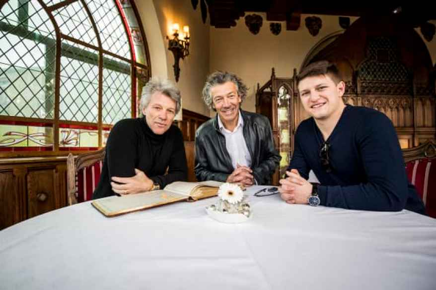 Jon Bon Jovi, Gérard Bertrand y Jesse Bongiovi