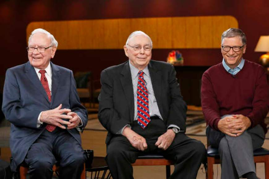 Warren Buffett, Charlie Munger y Bill Gates