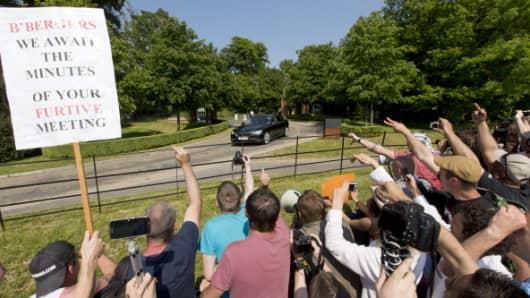 Bilderberg meetings often attract protesters