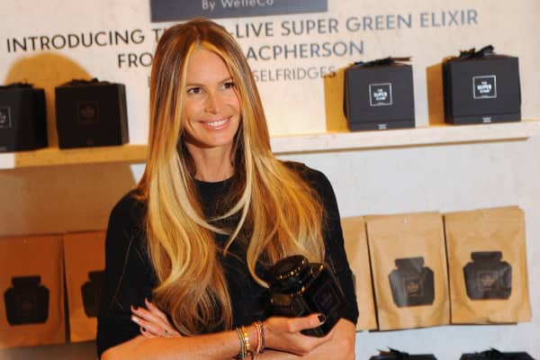 Elle Macpherson Launches The Super Elixir at at Selfridges on May 22, 2014 in London, England