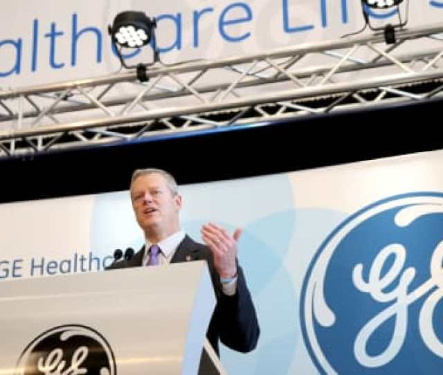 Massachusetts Governor Charlie Baker Speaks During The Opening Ceremony For The Ge Healthcare Life Sciences Headquarters