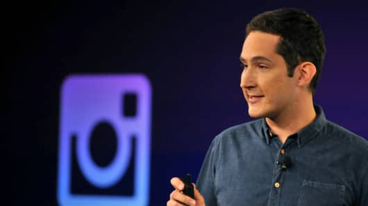 Instagram CEO Kevin Systrom speaks at Facebook's corporate headquarters during a media event in Menlo Park, California on June 20, 2013, where Facebook announced the introduction of video for Instagram.