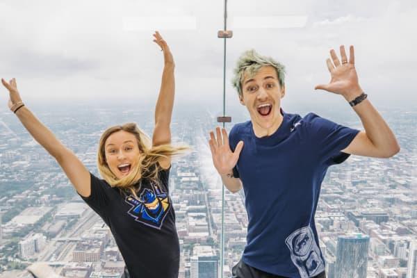 """Jess Blevins y su esposo, Tyler """"Ninja"""" Blevins"""