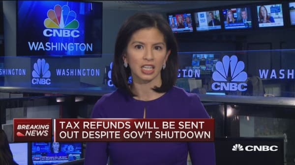 Tax refunds will be issued despite government shutdown