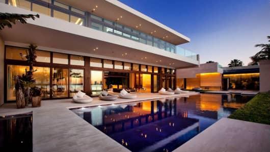 Mansion on Indian Creek Island, Miami.
