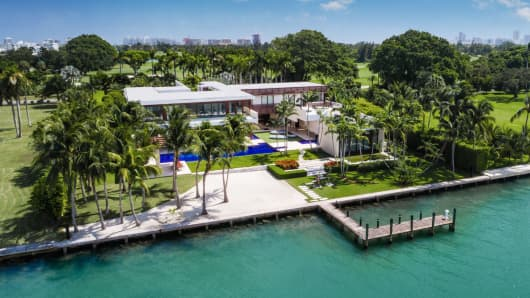 Mansion on Indian Creek Island, Miami.
