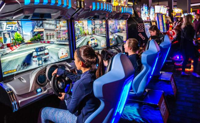Dave Buster S Shares Jump As Revamped Menu New Games