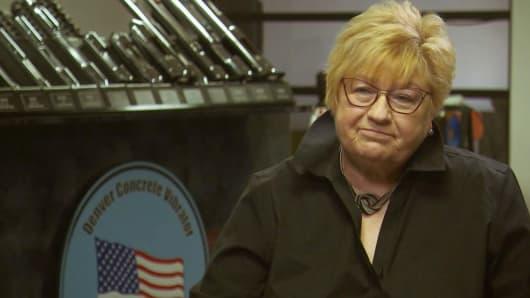 Sandra Payne, owner of Denver Concrete Vibrator.