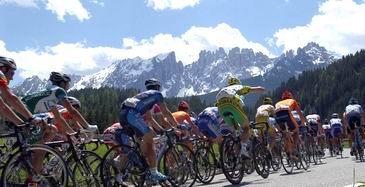 自転車レースの集団