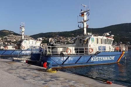 Boote Deutscher Küstenwache angelegt