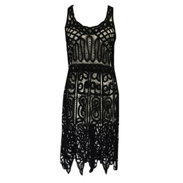 1920s Lace Beaded Flapper Dress
