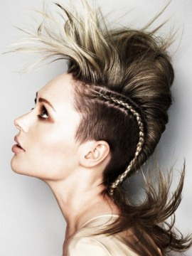 Braided mohawk medium hair