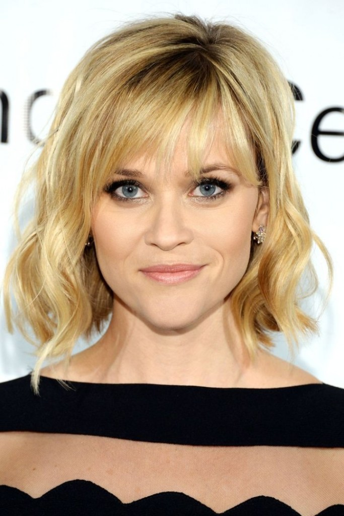 3 gorgeous bob hairstyles of medium hair style guide fmag reese witherspoon a line bob and bangs urmus Choice Image