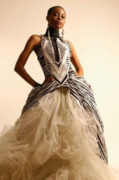 african wedding dress tulle prints