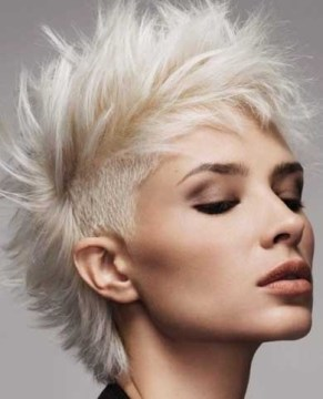 blonde mohawk short hair