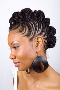 stylish fauxhawk micro braids