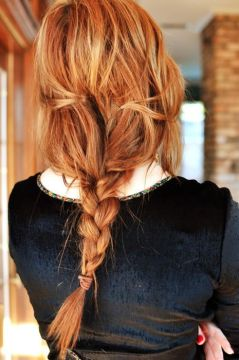 messy braid red hair
