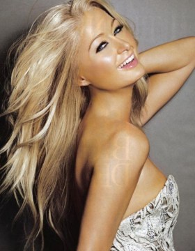 paris hilton long layered hair