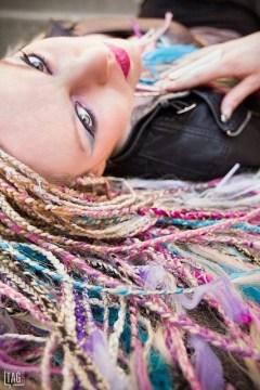 pastel micro braids