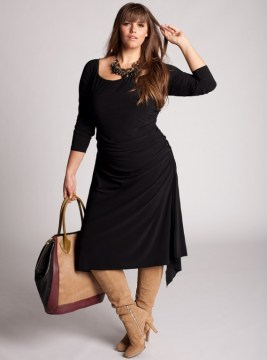 plus size asymmetrical lbd