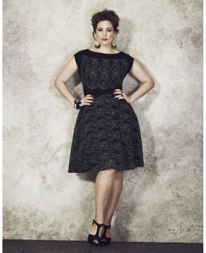 plus size delicate dress