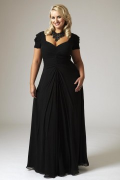 plus size flared maxi lbd