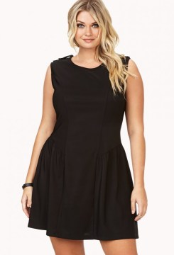 plus size skater dress flared