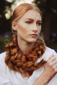 rapunzel braid red hair