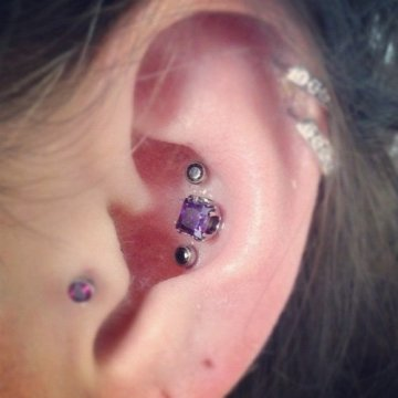 cute triple conch piercing