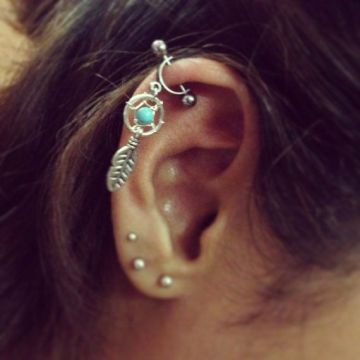 dreamcatcher helix piercing