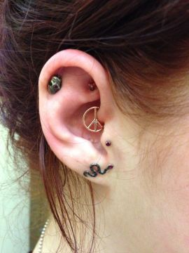 peace sign daith piercing