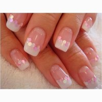 pink and white gel nails - fmag.com