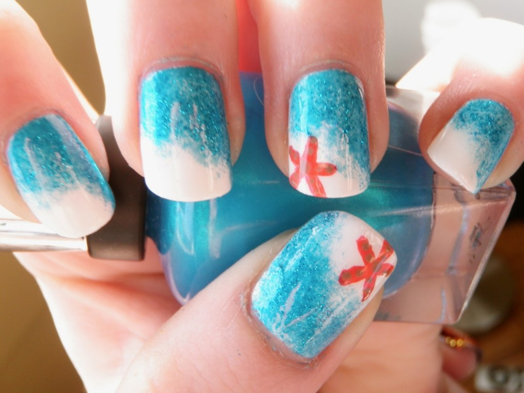 35 unique nail designs to try in summer fmag beach nails summer prinsesfo Gallery