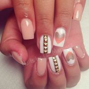 colored acrylic nails cute pink