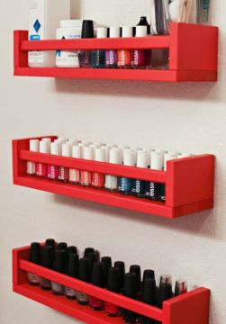 custom nail polish storage - small shelf