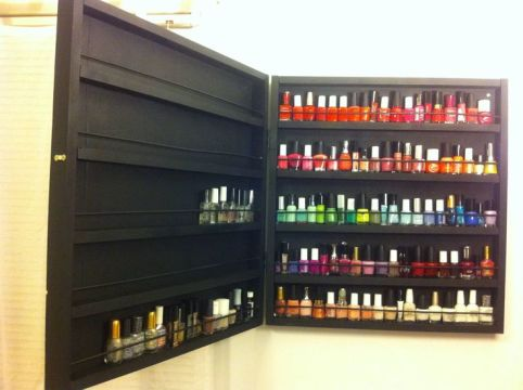 custom shelf - nail polish storage