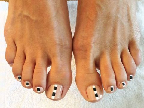 cute DIY pedi