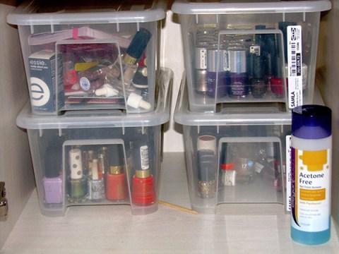 nail polish compact storage