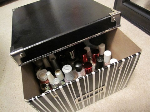 nail polish storage box