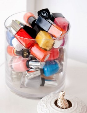 nail polish storage glass bowl