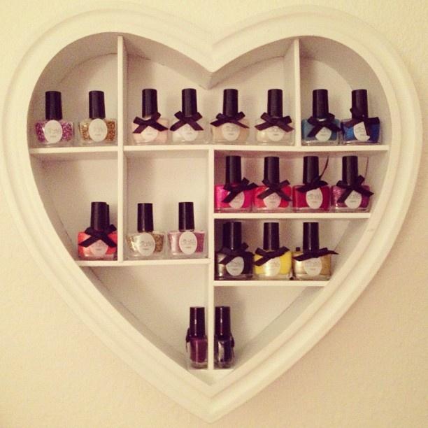 The best nail polish storage ideas to try right now fmag nail polish storage heart shelf solutioingenieria Choice Image