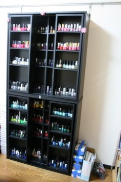 nail polish storage large shelves