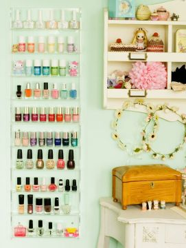 nail polish storage - small shelf