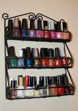 nail polish storage - spice rack