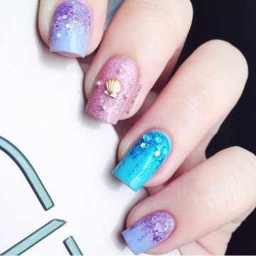 pastel mermaid nails