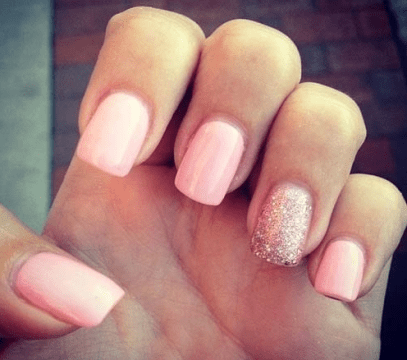 dazzling pink and white nails