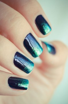 shiny mermaid nail art